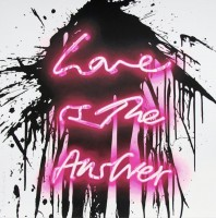 MR BRAINWASH | Love is the answer | Screen-print available for sale on www.kunzt.gallery