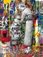 MR BRAINWASH | Punks not dead | Mixed Media available for sale on www.kunzt.gallery