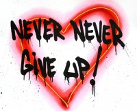 MR BRAINWASH   Speak from the Heart (Never Give Up)   Mixed Media available for sale on www.kunzt.gallery