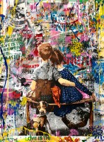 MR BRAINWASH | Work well together | Mixed Media available for sale on www.kunzt.gallery