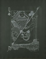 Man RAY | Queen of Spades | Etching available for sale on www.kunzt.gallery