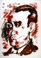 Markus LUPERTZ | Homage to Federico Garcia Lorca | Silkscreen available for sale on www.kunzt.gallery