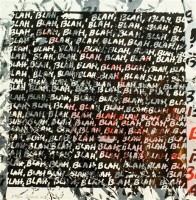 Mel BOCHNER | Blah Blah Blah + Background Noise #80 | Silkscreen available for sale on www.kunzt.gallery