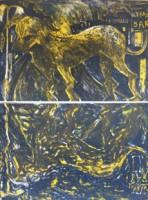 Miquel BARCELó | Chien Sous La Pluie | Lithograph available for sale on www.kunzt.gallery
