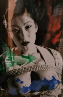 Nobuyoshi ARAKI | Bound woman | Acrylic paint available for sale on www.kunzt.gallery