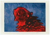 Otto PIENE | Zyklop Rot | Mixed Media available for sale on www.kunzt.gallery