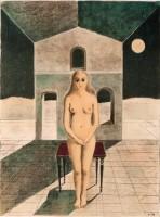 Paul Delvaux | La voyante | Lithograph available for sale on www.kunzt.gallery