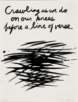 Raymond Pettibon | Crawling as we do | Silkscreen available for sale on www.kunzt.gallery