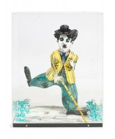 Red GROOMS | Charlie Chaplin | Lithograph available for sale on www.kunzt.gallery