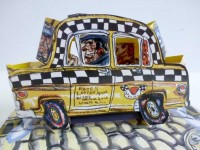 Red GROOMS | Ruckus Taxi (Mini) | Lithograph available for sale on www.kunzt.gallery