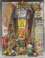 Red GROOMS | The Boss at Times Square | Lithograph available for sale on www.kunzt.gallery