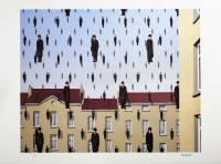 Rene MAGRITTE | Golconde | Lithograph available for sale on www.kunzt.gallery