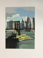 Richard ESTES | East River, New York | Serigraph available for sale on www.kunzt.gallery