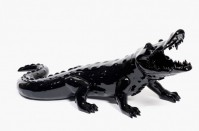 Richard ORLINSKI | Born Wild Crocodile (Black) | Resin available for sale on www.kunzt.gallery