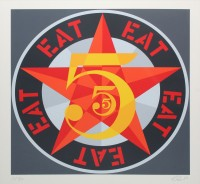 Robert INDIANA | Eat (from The American dream No. 5) | Serigraph available for sale on www.kunzt.gallery
