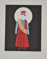 Robert Indiana | Gertrude Stein - Mother of us all portfolio | undefined available for sale on www.kunzt.gallery