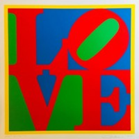 Robert INDIANA | Heliotherapy Love | Screen-print available for sale on www.kunzt.gallery