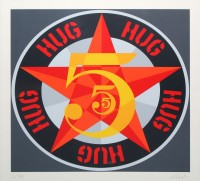 Robert INDIANA | Hug (from The American dream No. 5) | Serigraph available for sale on www.kunzt.gallery