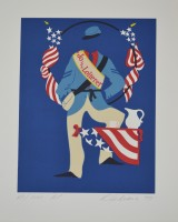 Robert Indiana | Jo the Loiterer - Mother of us all portfolio | undefined available for sale on www.kunzt.gallery