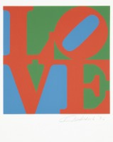 Robert INDIANA | Love #10 (from the Book of Love) | Screen-print available for sale on www.kunzt.gallery
