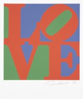 Robert INDIANA | Love #11 (from the Book of Love) | Screen-print available for sale on www.kunzt.gallery