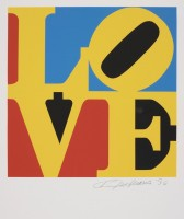 Robert INDIANA | Love #4 (from the Book of Love) | Screen-print available for sale on www.kunzt.gallery