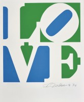 Robert INDIANA | Love #5 (from the Book of Love) | Screen-print available for sale on www.kunzt.gallery