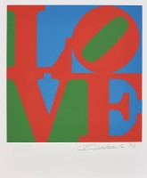 Robert INDIANA | Love #9 (from the Book of Love) | Screen-print available for sale on www.kunzt.gallery
