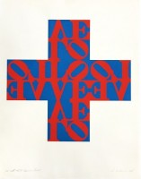 Robert INDIANA | Love Cross | Lithograph available for sale on www.kunzt.gallery