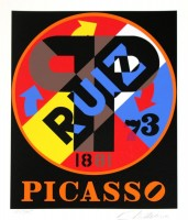 Robert INDIANA | Picasso Ruiz | Serigraph available for sale on www.kunzt.gallery