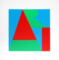 Robert Indiana | The Bowery Art | Serigraph available for sale on www.kunzt.gallery