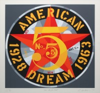 Robert INDIANA | The Golden Five (from The American dream No. 5) | Serigraph available for sale on www.kunzt.gallery