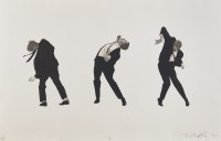 Robert LONGO | Men in the Cities I | Lithograph available for sale on www.kunzt.gallery