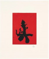 Robert MOTHERWELL | Red Samurai | Lithograph available for sale on www.kunzt.gallery