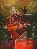 Roberto Matta | Je Fixe des Vertiges (plate 1) | Etching and Aquatint available for sale on www.kunzt.gallery