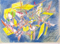 Roberto MATTA | Octravi | Lithograph available for sale on www.kunzt.gallery