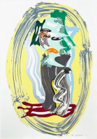 Roy LICHTENSTEIN | Green Face | Lithograph available for sale on www.kunzt.gallery