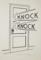 Roy LICHTENSTEIN | Knock Knock | Linocut available for sale on www.kunzt.gallery
