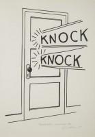 Roy LICHTENSTEIN | Knock Knock | Linocut available for sale on www.kunzt.gallery