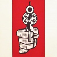 Roy LICHTENSTEIN | Pistol | Screen-print available for sale on www.kunzt.gallery