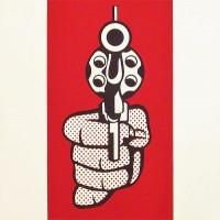 Roy LICHTENSTEIN | Pistol | Screen-print available for sale on www.kunzt.gallery