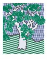 Roy LICHTENSTEIN | Rain Forest | Screen-print available for sale on www.kunzt.gallery