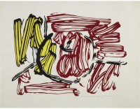 Roy LICHTENSTEIN | Red and Yellow Apple | Woodcut available for sale on www.kunzt.gallery