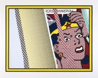 Roy LICHTENSTEIN | Reflections on Minerva | Screen-print available for sale on www.kunzt.gallery