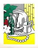 Roy LICHTENSTEIN | Still life with Figurine | Lithograph available for sale on www.kunzt.gallery