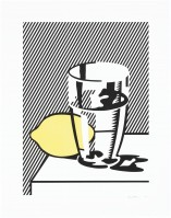 Roy LICHTENSTEIN | Still life with lemon and glass | Lithograph available for sale on www.kunzt.gallery
