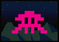 SPACE INVADER | L.E.D. | Silkscreen available for sale on www.kunzt.gallery
