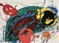Sam FRANCIS | For thirteen | Etching and Aquatint available for sale on www.kunzt.gallery