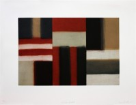 Sean SCULLY | Cut ground red | Etching and Aquatint available for sale on www.kunzt.gallery