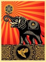Shepard FAIREY | Peace Elephant | Archival Print available for sale on www.kunzt.gallery